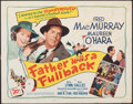 """Movie Posters:Sports, Father Was a Fullback (20th Century Fox, 1949). Rolled, Fine. Half Sheet (22"""" X 28""""). Sports.. ..."""