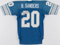 Autographs:Jerseys, 1991 Barry Sanders Signed Team-Issued Jersey. ...