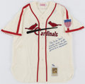Autographs:Jerseys, Stan Musial Signed Jersey. ...