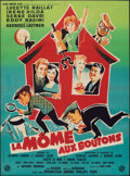 "Movie Posters:Foreign, La Mome aux Boutons (Glob Omnium Films, 1958). Folded, Fine/Very Fine. Full-Bleed French Grande (46.25"" X 63.25"") Boris Grin..."
