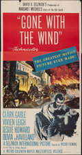 "Movie Posters:Academy Award Winners, Gone with the Wind (MGM, R-1954). Folded, Fine/Very Fine. Three Sheet (41"" X 79). Academy Award Winners.. ..."