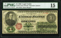 Large Size:Legal Tender Notes, Fr. 16c $1 1862 Legal Tender PMG Choice Fine 15.. ...