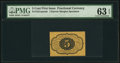 Fractional Currency:First Issue, Fr. 1231SP 5¢ First Issue Narrow Margin Back PMG Choice Uncirculated 63 EPQ.. ...