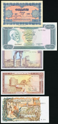 World (Algeria, Lebanon, Libya, Morocco) Group Lot of 5 Examples Very Fine-Choice About Uncirculated. ... (Total: 5)