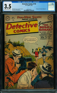Detective Comics #178 (DC, 1951) CGC VG- 3.5 Cream to off-white pages