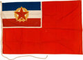 Military & Patriotic:WWII, Socialist Federal Republic of Yugoslavia National Flag , 1946 - 1992 and JRM Brod Mira Galeb, Marshall Tito's Pres... (Total: 2 Items)