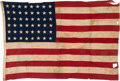 Military & Patriotic:WWII, D-Day Landed Camp Flag from the 29th Infantry Division - Omaha Beach from V Corp Commander Gen. Gerow. ...