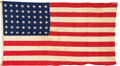 Military & Patriotic:WWII, MacArthur Landing Flag -LUZON - USS Boise, Small Boat (CL-47-3). ...