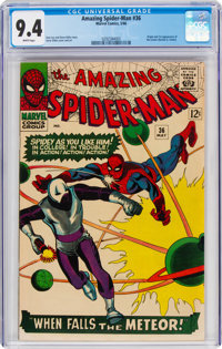 The Amazing Spider-Man #36 (Marvel, 1966) CGC NM 9.4 White pages