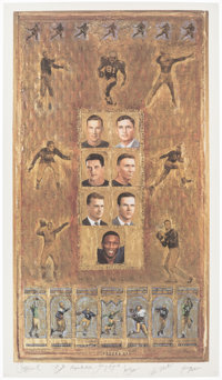 Notre Dame Heisman Trophy Winners Signed Lithograph
