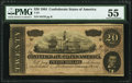 Confederate Notes:1864 Issues, T67 $20 1864 PF-19 Cr. 519 PMG About Uncirculated 55.. ...