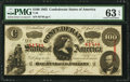 Confederate Notes:1863 Issues, T56 $100 1863 PF-3 Cr. 102 PMG Choice Uncirculated 63 EPQ.. ...