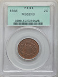1868 2C MS62 Red and Brown PCGS. PCGS Population: (16/372). NGC Census: (3/214). MS62. Mintage 2,803,750. ...(PCGS# 3598...
