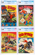 Golden Age (1938-1955):Western, Red Ryder Comics CGC-Graded File Copies Group of 4 (Dell, 1944-50) CGC VF/NM 9.0.... (Total: 4 Comic Books)