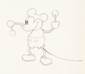 Animation Art:Production Drawing, Steamboat Willie Mickey Mouse Animation Drawing (Walt Disney, 1928). ...