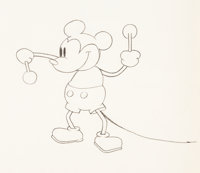 Steamboat Willie Mickey Mouse Animation Drawing (Walt Disney, 1928)