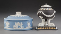 Two Wedgwood Jasperware Table Articles, England, 20th century Marks: WEDGWOOD, MADE IN ENGLAND, (vario