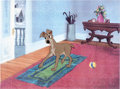 Animation Art:Production Cel, Lady and the Tramp Tramp Production Cel (Walt Disney, 1955). ...
