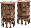 Furniture, A Pair of Large Moorish Inlaid Occasional Tables. 40 x 24 inches (101.6 x 61.0 cm) (each). ... (Total: 2 Items)
