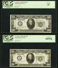 Fr. 2052-A $20 1928B Federal Reserve Note. PCGS Very Fine 30PPQ.... (Total: 2)