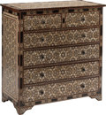 Furniture, An Iberian Inlaid Chest of Drawers. 41-1/2 x 41 x 20 inches (105.4 x 104.1 x 50.8 cm). ...