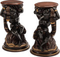 Furniture, A Pair of Venetian Partial Gilt Carved Hardwood Figural Stands, 19th century. 21 x 13 inches (53.3 x 33.0 cm) (each). ... (Total: 2 Items)