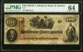 Confederate Notes:1862 Issues, T41 $100 1862 PF-12 Cr. 317A PMG Choice Uncirculated 64.. ...