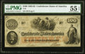 Confederate Notes:1862 Issues, T41 $100 1862 PF-25 Cr. 318A PMG About Uncirculated 55 EPQ.. ...