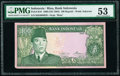 Indonesia Bank Indonesia 100 Rupiah 1960 (ND 1963) Pick R10 Riau Archipelago Issue PMG About Uncirculated 53</