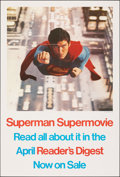 "Movie Posters:Action, Superman the Movie (Warner Bros., 1978). Folded, Very Fine+. Reader's Digest Poster (27"" X 40""). Action.. ..."