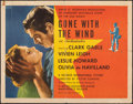 """Movie Posters:Academy Award Winners, Gone with the Wind (MGM, R-1947). Folded, Fine-. Half Sheet (22"""" X 28"""") Style A. Academy Award Winners.. ..."""