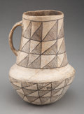 American Indian Art:Pottery, A Chaco Black-On-White Pitcher...