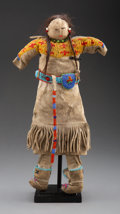 American Indian Art:Beadwork and Quillwork, A Plains Beaded Hide Doll...
