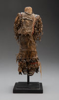 American Indian Art:Beadwork and Quillwork, An Apache Beaded Hide Female Doll...