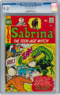 Sabrina the Teen-Age Witch #16 (Archie, 1973) CGC VF/NM 9.0 Off-white to white pages