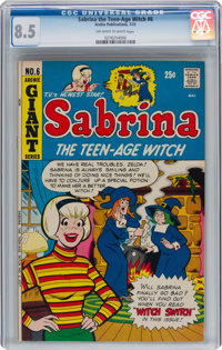 Sabrina the Teen-Age Witch #6 (Archie, 1972) CGC VF+ 8.5 Off-white to white pages