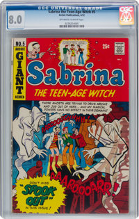 Sabrina the Teen-Age Witch #5 (Archie, 1972) CGC VF 8.0 Off-white to white pages