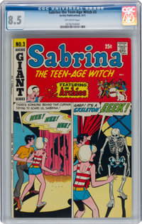 Sabrina the Teen-Age Witch #3 (Archie, 1971) CGC VF+ 8.5 Off-white pages