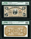 Argentina Provincia de Buenos Aires 1 Peso Fuerte 1.1.1871 Pick S524p1; S524p2 Front and Back Proofs PMG Choice About Un...