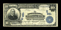 National Bank Notes:Pennsylvania, Downingtown, PA - $10 1902 Plain Back Fr. 624 The Downingtown NBCh. # (E)661. ...
