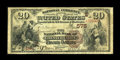 National Bank Notes:Pennsylvania, Coatesville, PA - $20 1882 Brown Back Fr. 494 The NB of ChesterValley Ch. # (E)575. ...