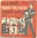 "Music Memorabilia:Recordings, Elvis Presley ""Perfect For Parties"" EP RCA 7-37 Mono (1956)...."