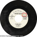 "Music Memorabilia:Recordings, Elvis Presley ""Mystery Train""/""I Forgot to Remember to Forget""Promo 45 RCA 476357 Mono (1955)...."