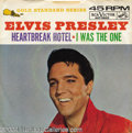 "Music Memorabilia:Recordings, Elvis Presley ""Heartbreak Hotel"" Picture Sleeve 45 RCA Mono(1964)...."