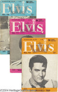 "Music Memorabilia:Miscellaneous, Elvis Presley - ""Elvis Monthly"" Group (England, 1966-70).... (29items)"
