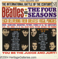 "Music Memorabilia:Recordings, ""The Beatles Vs. The Four Seasons"" LP Vee-Jay DX 30 Mono (1964)...."