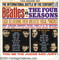 "Music Memorabilia:Recordings, ""The Beatles vs. The Four Seasons"" LP Vee-Jay DX-30 Mono (1964)...."