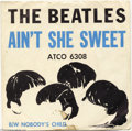 "Music Memorabilia:Recordings, Beatles ""Ain't She Sweet""/""Nobody's Child"" 45 Atco 6308 Mono(1964)...."