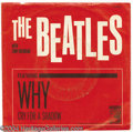"""Music Memorabilia:Recordings, Beatles With Tony Sheridan """"Why""""/""""Cry For a Shadow"""" 45 MGM 13227Mono (1964)...."""