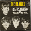 """Music Memorabilia:Recordings, Beatles """"Do You Want to Know a Secret/Thank You Girl"""" PictureSleeve 45 Vee Jay 587 Mono (1964)...."""